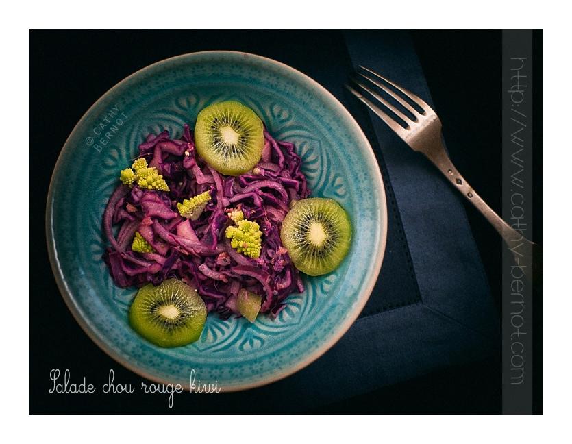 Salade chou rouge kimi