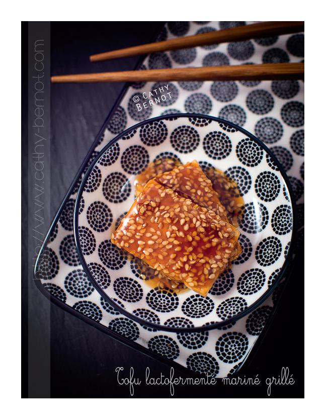 Tofu lacto-fermenté grillé sauce teriyaki