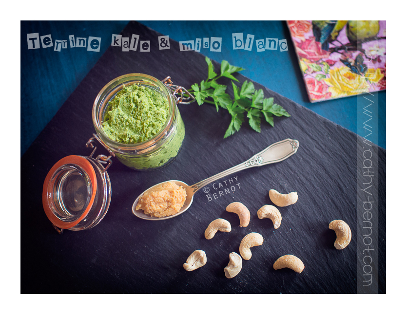 Terrine chou kale, cajou et miso blanc