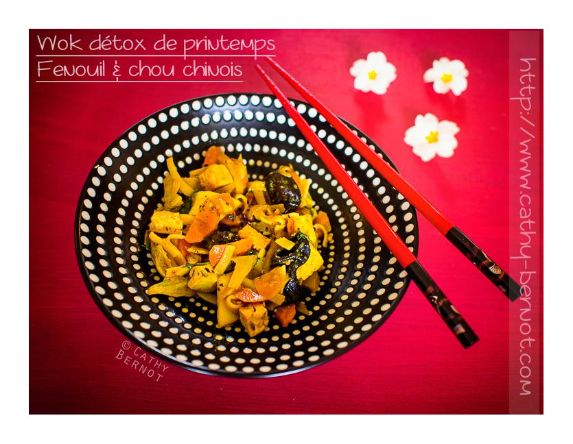 Wok égopode, chou chinois et fenouil