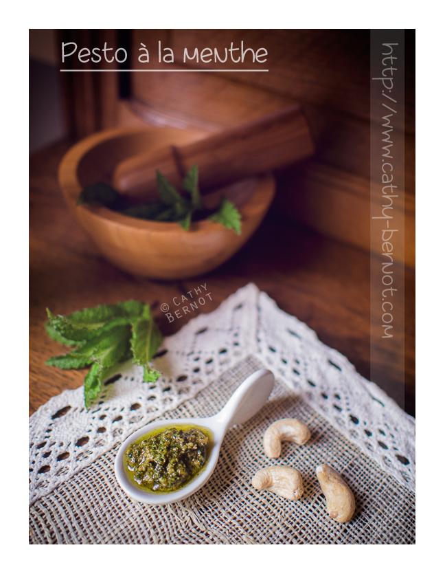 Pesto à la menthe (sans lactose-végan)