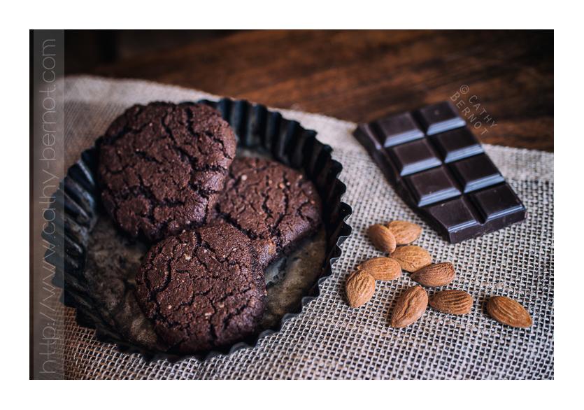 Cookies chocolat amandes végan