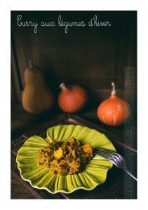 Curry végétarien de courge et légumes d'hiver